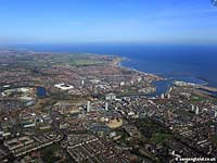 aerial photo of Sunderland UK